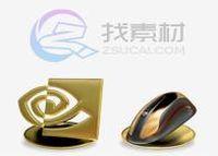 3D金色质感系统图标