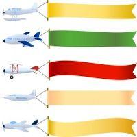飞机横幅矢量素材