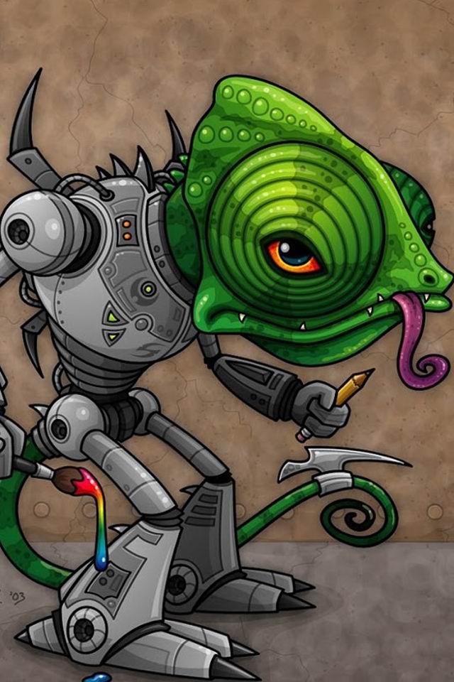 卡通版外星人iphone5下载