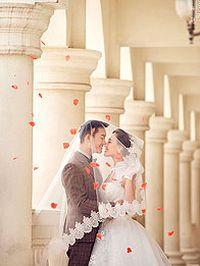 浪漫古典婚纱照苹果安卓手机壁纸