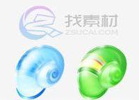 多色彩田螺壳图标