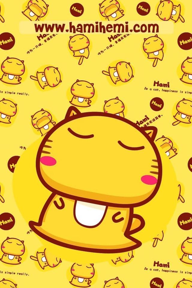 可爱卡通hami小猫手机壁纸 可爱卡通hami小猫手机壁纸