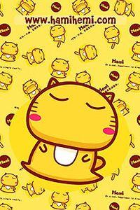可爱卡通hami小猫手机壁纸