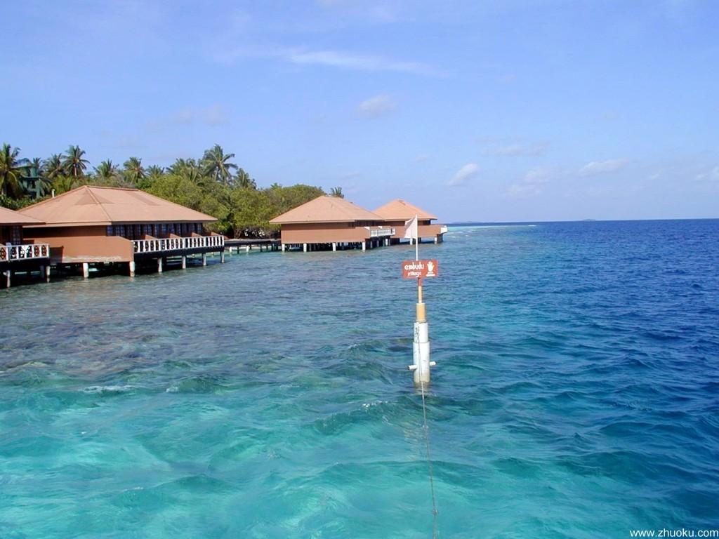 马尔代夫海岛宽屏壁纸下载