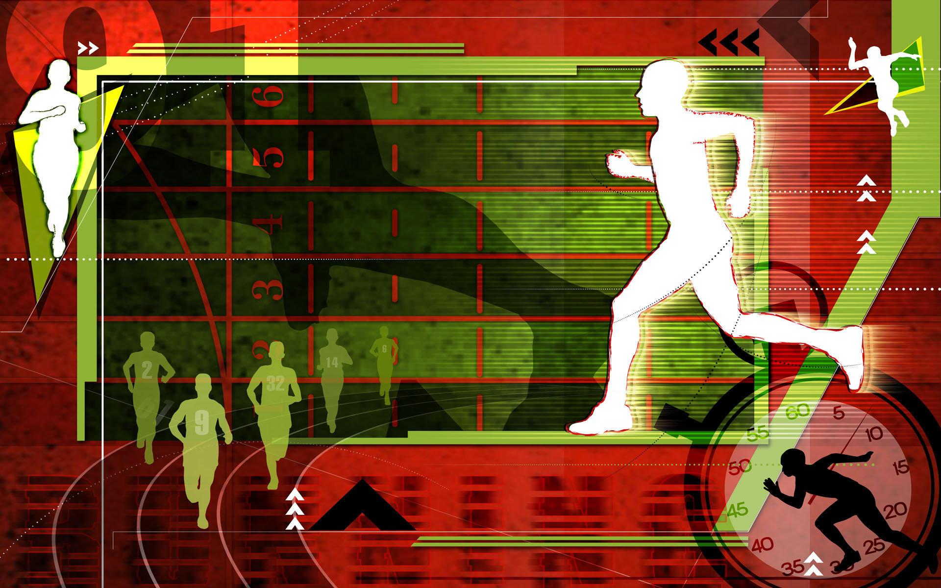 奥运体育项目抽象主题高清壁纸
