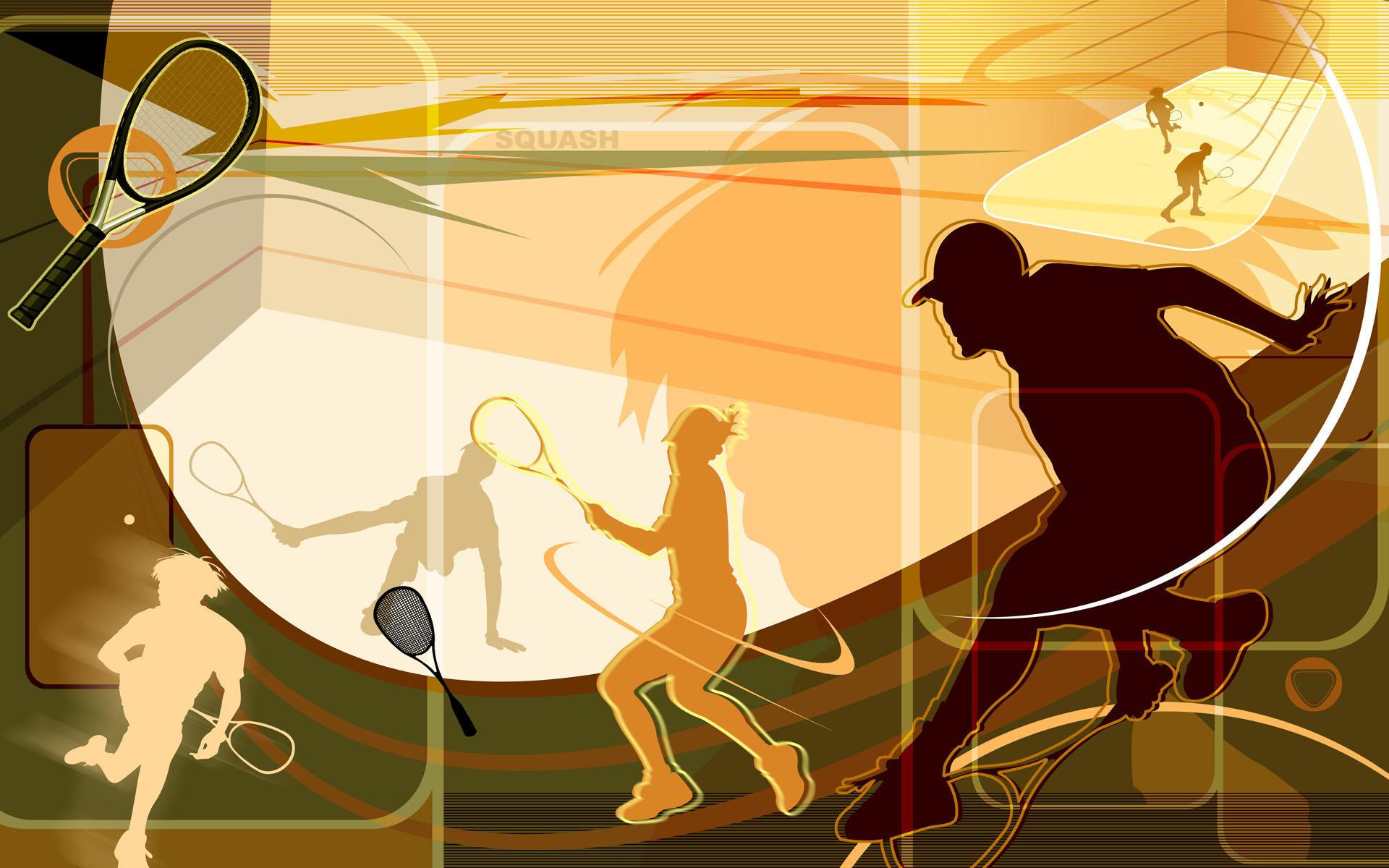 奥运体育项目抽象主题高清桌面壁纸