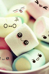 可爱甜甜棉花糖糕点手机壁纸
