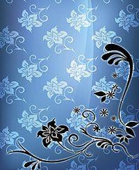 蓝色背景花纹图片