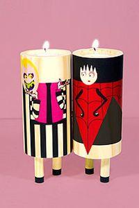创意蜡烛情侣手机壁纸