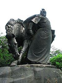 岳飞雕像高清图片