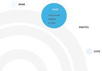 jQuery鼠标滑过放大气泡显示二级菜单