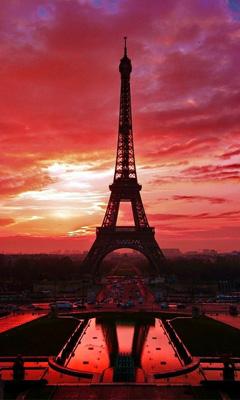 巴黎埃菲尔铁塔手机桌面壁纸
