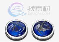 蔚蓝指南针套装图标
