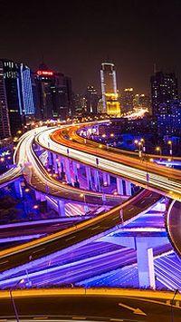 城市灯光夜景高清手机壁纸