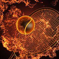 网球拍火焰高清图片