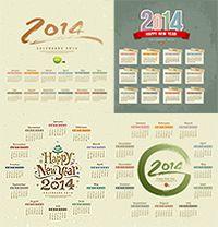 2014年日历矢量素材