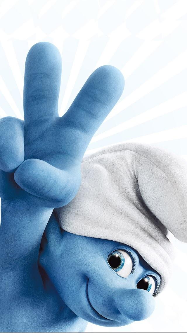 可爱卡通蓝精灵手机动态壁纸