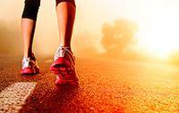 清晨晨跑脚步图片