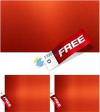 现代中国红免费标签ppt背景ppt模板免费下载