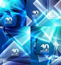 炫蓝方形背景矢量素材