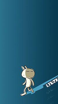 兔斯基卡通苹果安卓手机壁纸