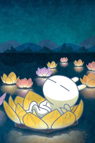 兔斯基卡通大屏幕智能手机壁纸