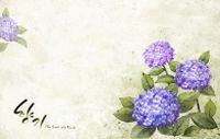 紫色花卉背景图源文件