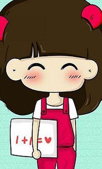 可爱卡通大头妹子小米手机壁纸