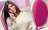 网络小美女Hello Kitty 清纯手机代言高清桌面壁纸