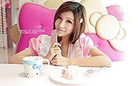 网络小美女Hello Kitty 清纯手机代言桌面壁纸大全