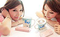 网络小美女Hello Kitty 清纯手机代言宽屏壁纸下载