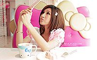 网络小美女Hello Kitty 清纯手机代言壁纸大全