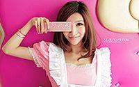 网络小美女Hello Kitty 清纯手机代言壁纸