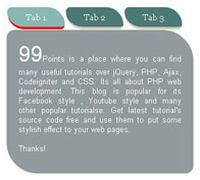 jQuery叶子形状tab选项卡