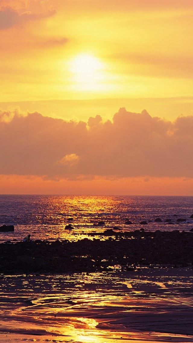 找素材网  冬季夕阳落日美丽图片iphone手机壁纸_风景_7kk图片, 您的