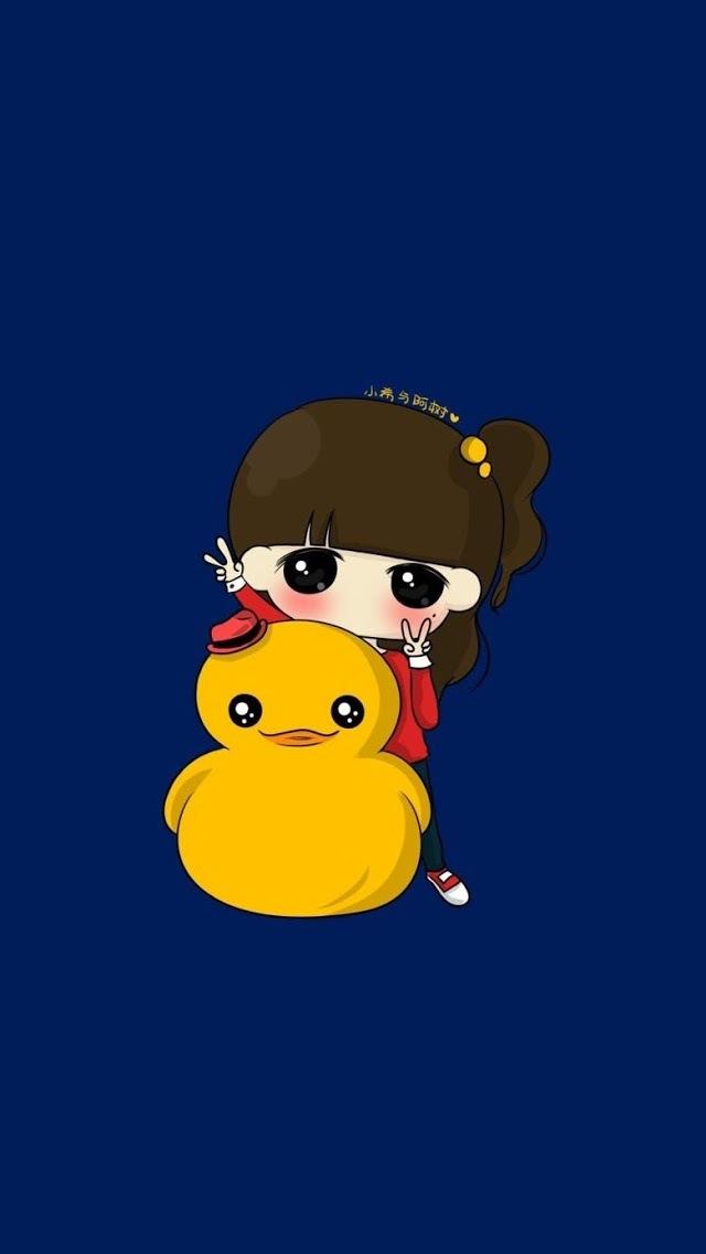 简约卡通小女孩iphone5下载