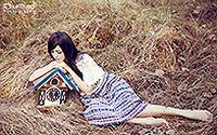 夏日清新美少女可爱写真壁纸桌面