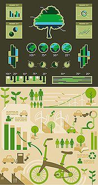 环保主题统计图标矢量素材
