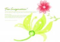 水彩花卉设计源文件素材