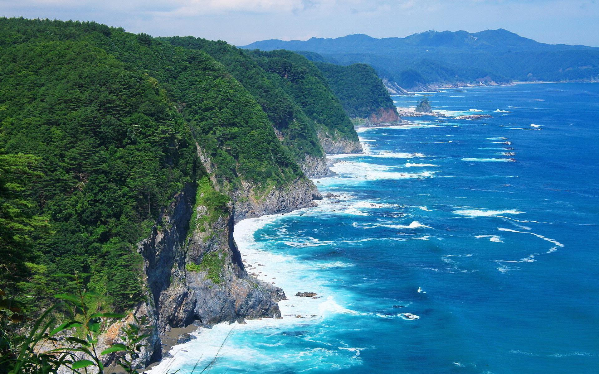 清新蓝色海岸高清风景皮肤壁纸