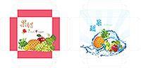 醋水果包装盒矢量素材
