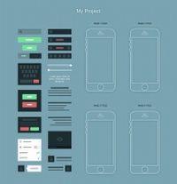 iPhone手机UI设计源文件