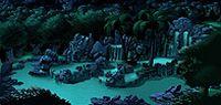 手绘森林风景图片