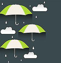 雨天主题剪纸背景矢量素材