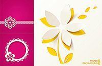 纸质花朵矢量素材