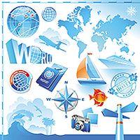 旅游元素矢量素材