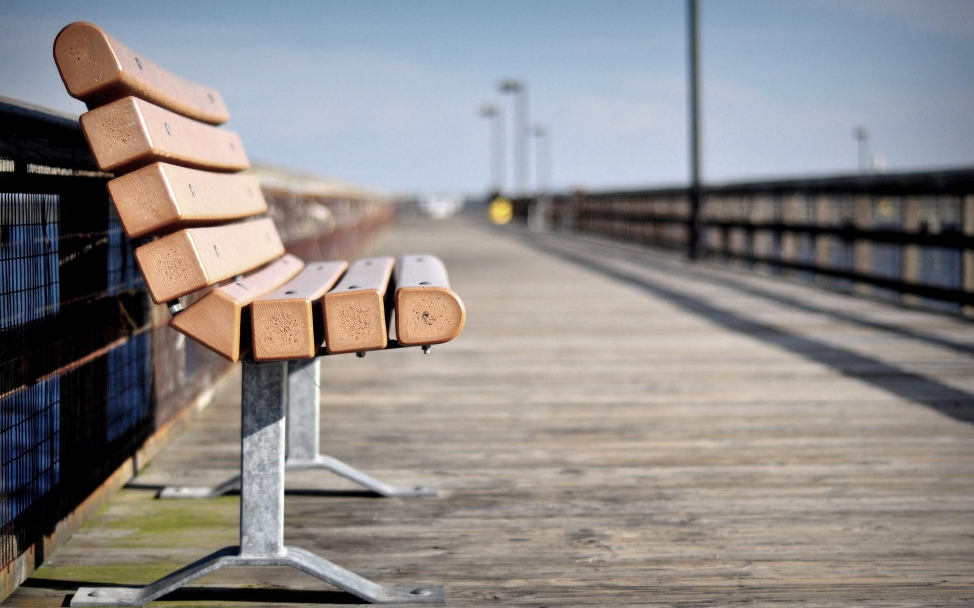 孤独的长椅唯美风景高清宽屏壁纸
