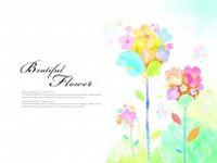 炫彩花卉背景源文件图