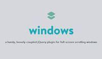 jQuery全屏窗口位置确定插件