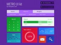 紫色背景UI元素设计